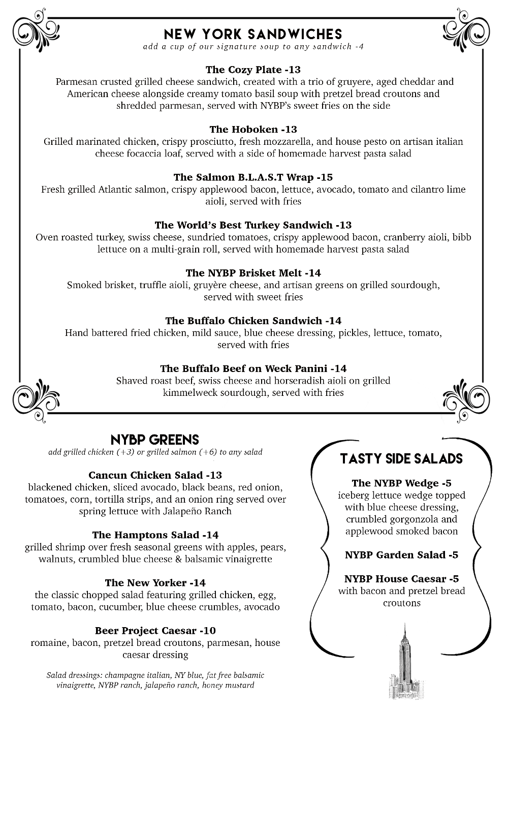 Gastropup Menu Page 2 - Click for full size